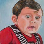 10 - L'enfance, espérance d'un peuple - huile sur papier collé sur bois - 37x47 Est. 200€