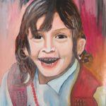 2 - Petite fille disparue  - huile sur papier collé sur bois - 44x64 Est. 200$
