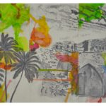 22 - Histoire - fusain et aquarelle sur papier  - 40x50 Est. 650 €