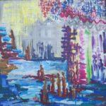 VENDU 25- La migration des esprits - acrylique sur toile - 72x72 Est.1 000 $