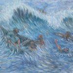 37 - Le naufrage - Huile sur toile - 86x101 Est.1 800 $