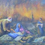 VENDU 38 - La persécution - Huile sur toile -119x160 Est. 2 500 $