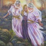 39 - Les femmes Yézidis - Huile sur toile - 104x154 Est. 2 000€